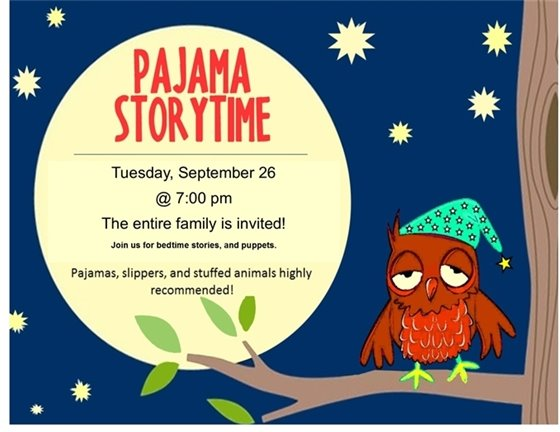 P.J. Storytime Graphic