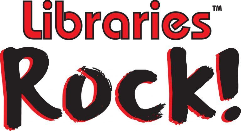 Libraries Rock logo red and black