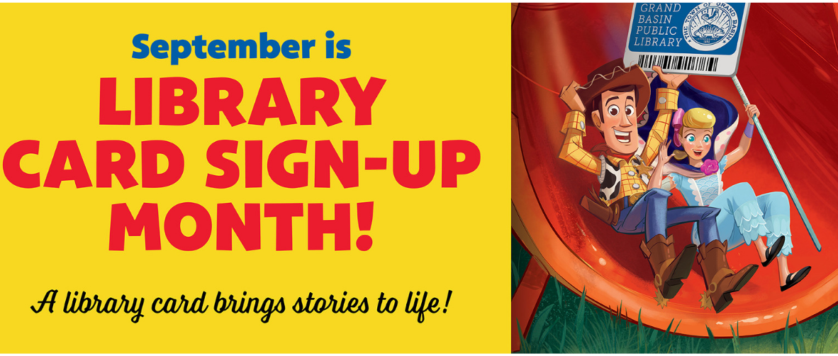 Library card sign up month slideshow